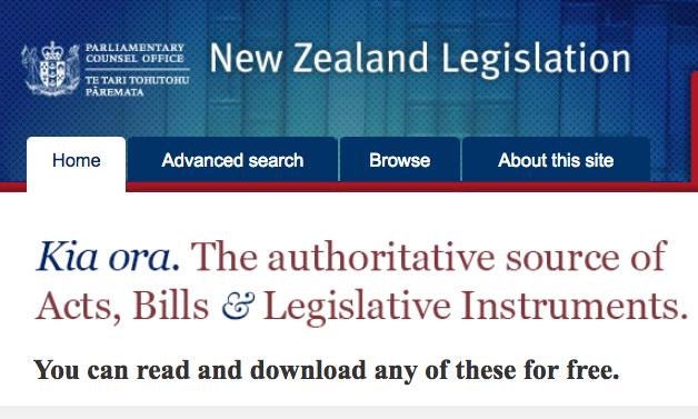 Legislation.govt.nz offers enactments in XML format